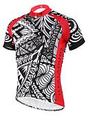halpa Kukkaistyttöjen mekot-ILPALADINO Miesten Lyhythihainen Pyöräily jersey - Musta / punainen Pyörä Jersey, Nopea kuivuminen, Ultraviolettisäteilyn kestävä,