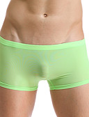 cheap Men's Exotic Underwear-Men's Ice Silk Super Sexy Boxer Briefs Solid Colored 1 Piece