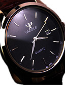 cheap Women's Blazers-Men's Quartz Wrist Watch Calendar / date / day Water Resistant / Water Proof Stainless Steel Band Charm Black Brown