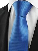 abordables Corbatas y Pajaritas para Hombre-Hombre Algodón Rayón Poliéster Corbata - Fiesta Trabajo Básico Cuadrícula