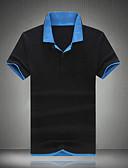 abordables Camisetas y Tops de Hombre-Hombre Deportes Fin de semana Trabajo Tallas Grandes Polo Delgado Bloques Algodón