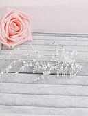 رخيصةأون طرحات الزفاف-حجر الراين فرش تمشيط للشعر مع 1 زفاف / مناسبة خاصة / فضفاض خوذة