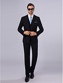 ieftine Voal de Nuntă-Slim Fit Poliester Costum - Cresătură Slim Un singur rând, un nasture