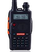 זול שעוני ספורט-BAOFENG UV-5R5TH-BLK לכף היד / דיגיטלי הנחיה קולית / Dual Band / מצגת כפולה 1.5KM-3KM 1.5KM-3KM 128 1800mAh 5W/1W ווקי טוקי רדיו דרך שני / 136-174MHz / 400-520MHz / רדיו FM / מצב המתנה כפול / LCD