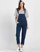 preiswerte Damen Hosen-Damen Übergrössen Overall Jeans Hose Solide