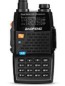 זול שעוני ספורט-BAOFENG UV-5R 4TH לכף היד / דיגיטלי הנחיה קולית / Dual Band / מצגת כפולה 1.5KM-3KM 1.5KM-3KM 128 2800mAh 5/1 W ווקי טוקי רדיו דרך שני