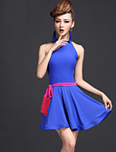 preiswerte Kleidung für Lateinamerikanischen Tanz-Latein-Tanz Kleider Damen Leistung Chinlon / Viskose Drapiert Kleid / Gürtel / Unterhose / Latintanz