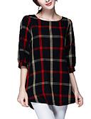 billige Trendy og farverige chiffontørklæder-Dame - Ruder Racer Bagside Gade I-byen-tøj Bluse