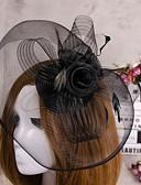 رخيصةأون قطع رأس-ستان قطع زينة الرأس / غطاء شفاف للوجه مع 1 زفاف / مناسبة خاصة خوذة