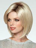 billige Kjoleur-Syntetiske parykker Lige Blond Bob frisure Syntetisk hår Blond Paryk Dame Lågløs