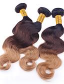 رخيصةأون فساتين الحفلات-3 مجموعات شعر برازيلي هيئة الموج كلاسيكي 10A شعر عذراء ظل 12-26 بوصة ظل ينسج شعرة الإنسان شعر إنساني إمتداد