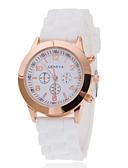 preiswerte Modische Uhren-Damen Armbanduhr Schlussverkauf Silikon Band Charme / Freizeit / Modisch Schwarz / Weiß / Blau