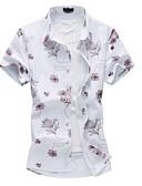 ieftine Tricou Bărbați-Bărbați Guler Clasic - Mărime Plus Size Cămașă Bumbac Floral / Manșon scurt
