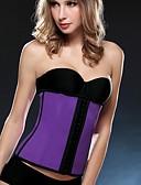 abordables Corsets & Bustiers-Serre Taille / Grande Taille Vêtement de nuit Femme,Sexy / Push-up / Rétro Couleur Pleine-Moyen Nylon / PolyesterBeige / Violet / Bleu /
