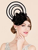 cheap Prom Dresses-Flax Feather Silk Fascinators Hats 1 Wedding Special Occasion Casual Headpiece
