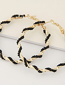 billige Todelte sæt til damer-Dame Perler Store øreringe - Harpiks Unikt design, Europæisk, Mode Lys pink / Gylden / Regnbue Til Fest / Gave / Daglig