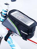billige Fargerike chiffonskjerf-ROSWHEEL Mobilveske / Vesker til sykkelramme 4.8 tommers Berøringsskjerm Sykling til iPhone 8/7/6S/6 Rød / Vanntett Glidelås
