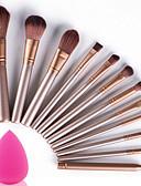hesapli Kadın Tulumları-Profesyonel Makyaj fırçaları Fırça Setleri 12pcs Portatif Seyahat Çevre-dostu Profesyonel Tam Kaplama Ahşap Makyaj Fırçaları için Makyaj Fırça Seti