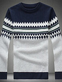 זול סוודרים וקרדיגנים לגברים-קולור בלוק - סוודר שרוול ארוך בגדי ריקוד גברים