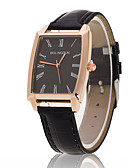 cheap Dress Watches-Men's Quartz Wrist Watch Casual Watch Leather Band Charm Black Brown