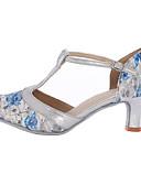 Χαμηλού Κόστους Αξεσουάρ κεφαλής για πάρτι-Γυναικεία Μοντέρνα παπούτσια Συνθετική μικροΐνα PU Αθλητικά Προσαρμοσμένο τακούνι Εξατομικευμένο Παπούτσια Χορού Μπλε / Εσωτερικό