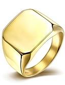 baratos Vestidos de Mulher-Homens Anel de banda - Aço Titânio, Chapeado Dourado Estilo simples, Fashion 7 / 8 / 9 Prata / Dourado Para Presentes de Natal / Casamento / Festa