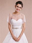 Χαμηλού Κόστους Γαμήλιες Εσάρπες-Αμάνικο Τούλι Γάμου / Πάρτι / Βράδυ Αναδιπλώνει Γάμου Με Μπολερό