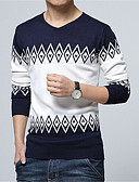 cheap Men's Tees & Tank Tops-Men's Daily / Weekend Long Sleeve Pullover - Color Block