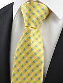abordables Corbatas y Pajaritas para Hombre-Hombre Corbata - Fiesta / Trabajo / Básico Cuadrícula