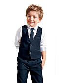 cheap Wedding Dresses-Boys' Solid Clothing Set All Seasons Long Sleeves Blue