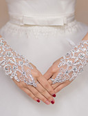 cheap Wedding Veils-Lace / Polyester Wrist Length Glove Bridal Gloves / Party / Evening Gloves With Rhinestone