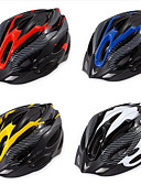 זול כובעים לנשים-מבוגרים אופני קסדה 19 פתחי אוורור עמיד לחבטות, משקל קל, התאמה מתכווננת EPS ספורט רכיבה בכביש / רכיבת פנאי / רכיבה על אופניים / אופנייים - צהוב / אדום / כחול / איוורוור