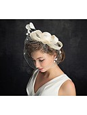 cheap Wedding Veils-Tulle / Feather Fascinators with 1 Special Occasion Headpiece