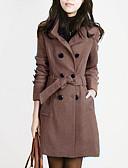 お買い得  レディースコート&トレンチコート-女性用 コート - ファッション シャツカラー ソリッド モダンスタイル