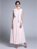 olcso Örömanya ruhák-Szűk szabású Ékszer Bokáig érő Sifon Örömanya ruha val vel Rátétek által LAN TING BRIDE® / Stólával