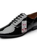 billige Sexy Kropper-Herre Moderne sko Kunstlær Høye hæler Snøring Tykk hæl Kan ikke spesialtilpasses Dansesko Svart / Hvit / Ytelse