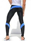 זול מכנסיים ושורטים לגברים-בגדי ריקוד גברים טלאים טייץ לריצה - אדום, כחול, צהוב / שחור ספורט טייץ רכיבה על אופניים / חותלות כושר וספורט, חדר כושר, להתאמן לבוש אקטיבי נושם, ייבוש מהיר, חדירות גבוהה לאוויר (מעל 15,000 גרם)