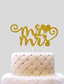 Недорогие Женские пальто из искусственного меха-Украшения для торта Пляж Классика Сердца Картон Свадьба с Бант 1 Пенополиуретан