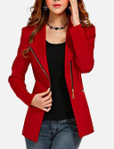 cheap Women's Blazers-Women's Vintage Plus Size Jacket - Solid Colored V Neck / Spring / Fall