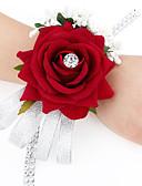 baratos Bouquets de Noiva-Bouquets de Noiva Buquês / Buquê de Pulso / Outros Casamento / Festa / Noite Material / Cetim 0-20cm