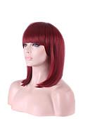 זול מלכת הוינטאג'-פאות סינתטיות ישר סגנון תספורת בוב פאה אדום שיער סינטטי בגדי ריקוד נשים פאה