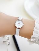 preiswerte Modische Uhren-Paar Armbanduhr Quartz Armbanduhren für den Alltag Imitation Diamant PU Band Analog Charme Modisch Kleideruhr Schwarz / Weiß / Rot - Schwarz Braun Rot