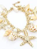 זול צעיפים לנשים-בגדי ריקוד נשים פנינה צמידי צ'ארם - דמוי פנינה, ציפוי זהב כוכב אופנתי צמידים זהב עבור יומי