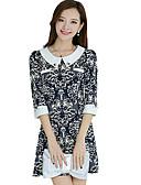 preiswerte Überbekleidung-Damen Anspruchsvoll Hülle Kleid - Druck Übers Knie