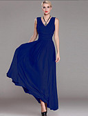 cheap Women's Dresses-Women's Plus Size Sophisticated Sheath Dress - Solid Colored Maxi V Neck