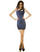 رخيصةأون فساتين طويلة-فستان نسائي حفلة فوق الركبة نحيل لون سادة Sleeveless
