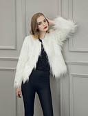 billige Damefrakker og trenchcoats-Dame Ensfarvet Vintage Frakke