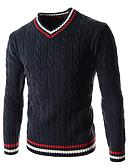 cheap Men's Underwear & Socks-Men's Sports Long Sleeve Wool Pullover - Striped