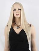 billige Eksotisk herreundertøy-Syntetiske parykker Rett Blond Syntetisk hår Blond Parykk Dame Lang Lokkløs Blond