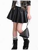 economico Pantaloni e leggings per ragazze-Bambino Da ragazza Abbigliamento Quotidiano Tinta unita Manica lunga Standard Standard PU (Poliuretano) Gonna Nero